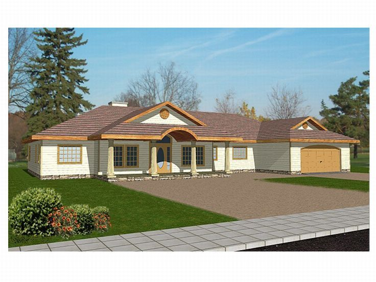 One-Story House Plan, 012H-0037