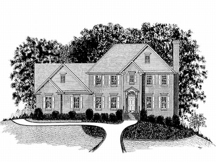 Two-Story House Plan, 007H-0058