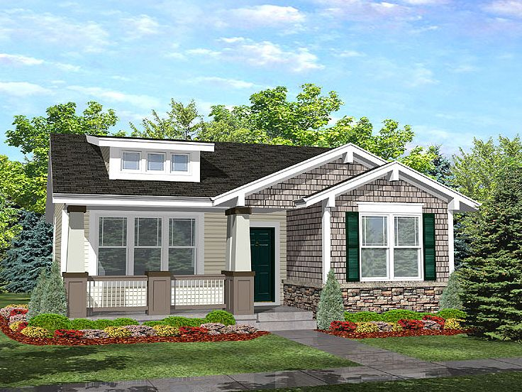 Exceptional Bungalow House Plan, 016H 0007 Nice Ideas