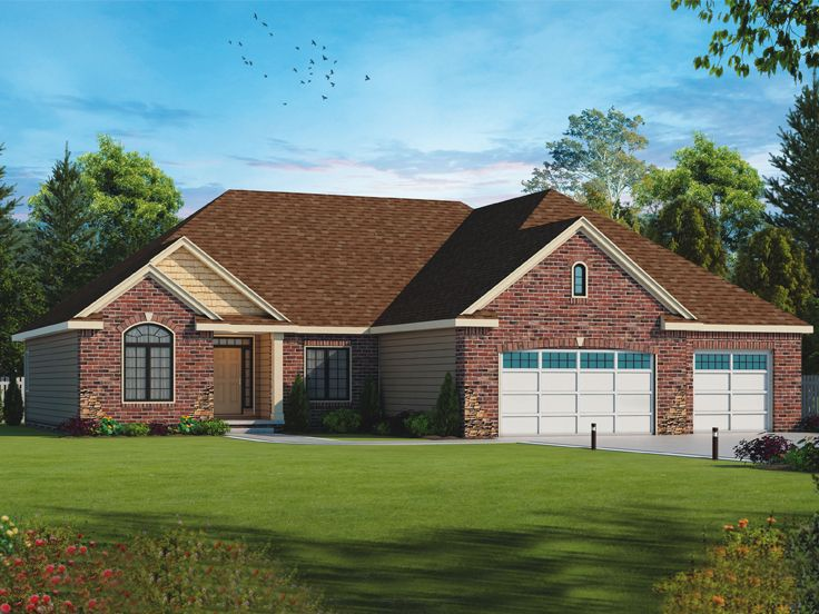 Traditional Ranch House Plan, 031H-0312