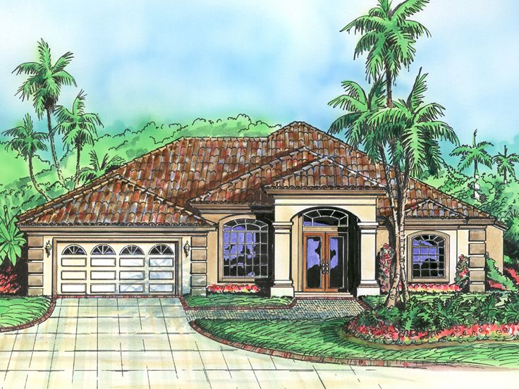 Sunbelt House Plan, 040H-0090