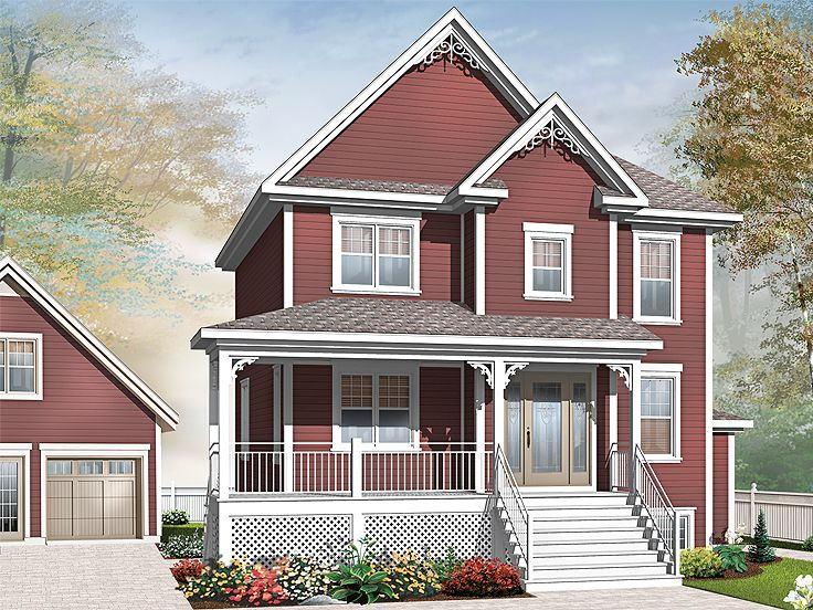 Narrow Lot House Plan, 027H-0215