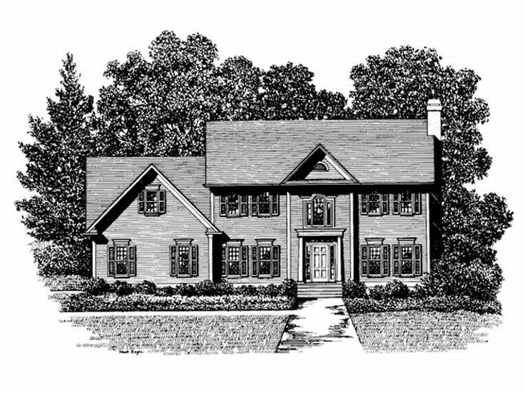 Colonial House Plan, 007H-0042