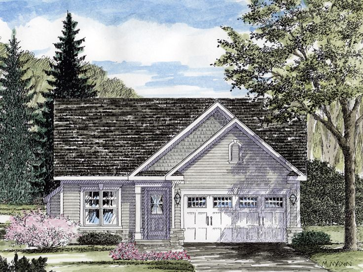 Narrow Lot House Plan, 014H-0067