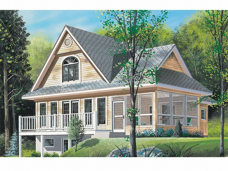 Vacation House Plan, 027H-0146