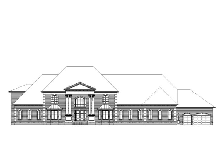 Mansion House Plan, 061H-0153