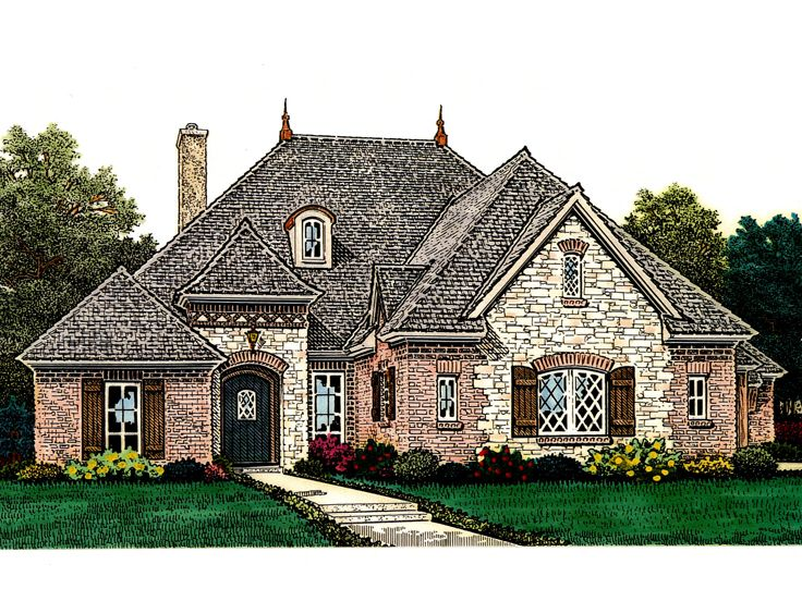 European House Plan, 002H-0109