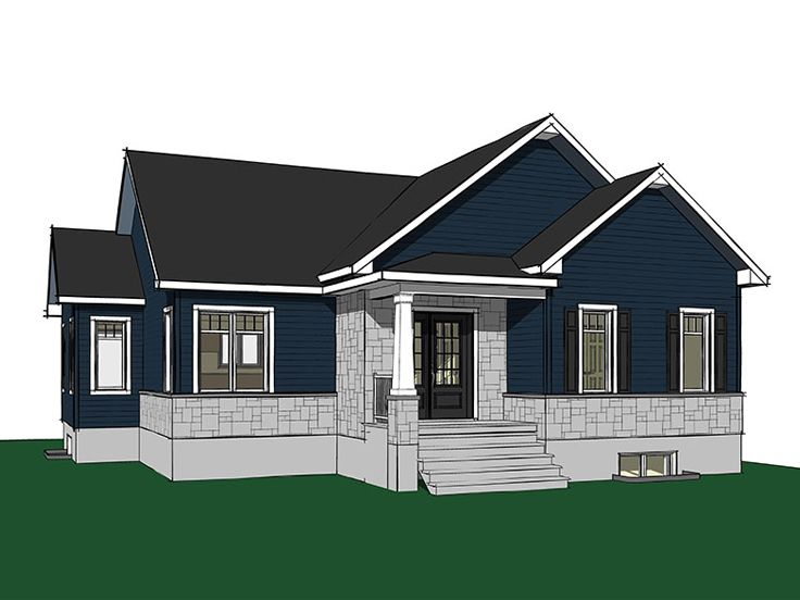 Bungalow House Plan, 027H-0418