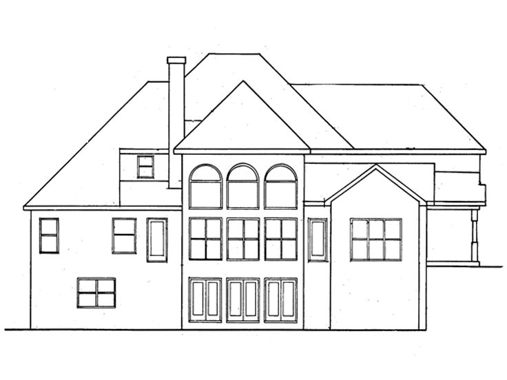 Rear Elevation, 019H-0146