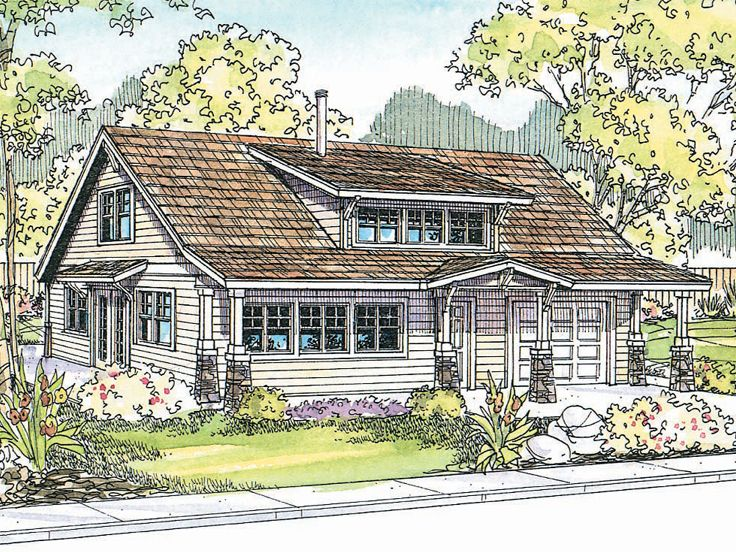 Craftsman House Plan, 051H-0111