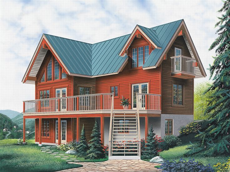 Vacation House Design, 027H-0101