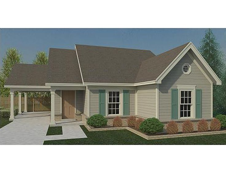 One Story House Plans Small Traditional 1 Sotry Home