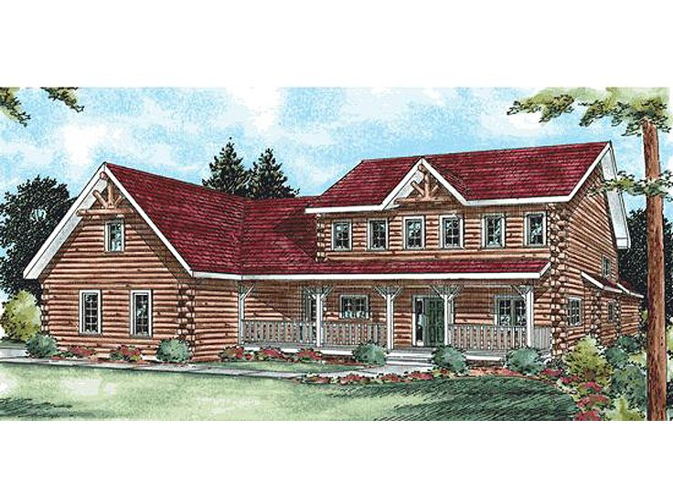 Log Home Plan, 031L-0018