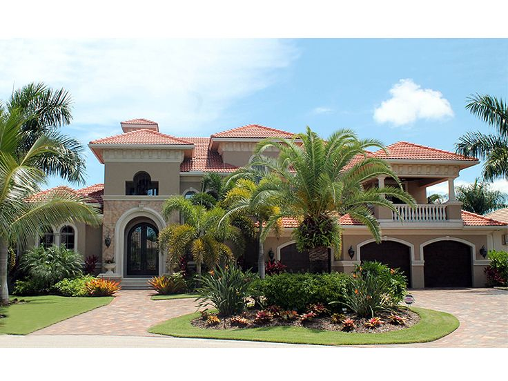 Mediterranean Home Plans Premier Luxury Two Story