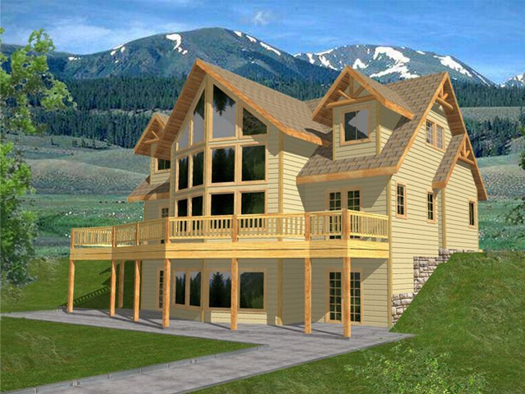 Plan 012h 0042 find unique house plans home plans and for Mountain view floor plans