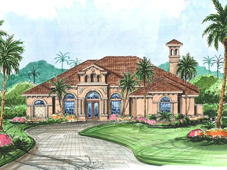 Plan 040h 0017 find unique house plans home plans and for Large mediterranean house plans