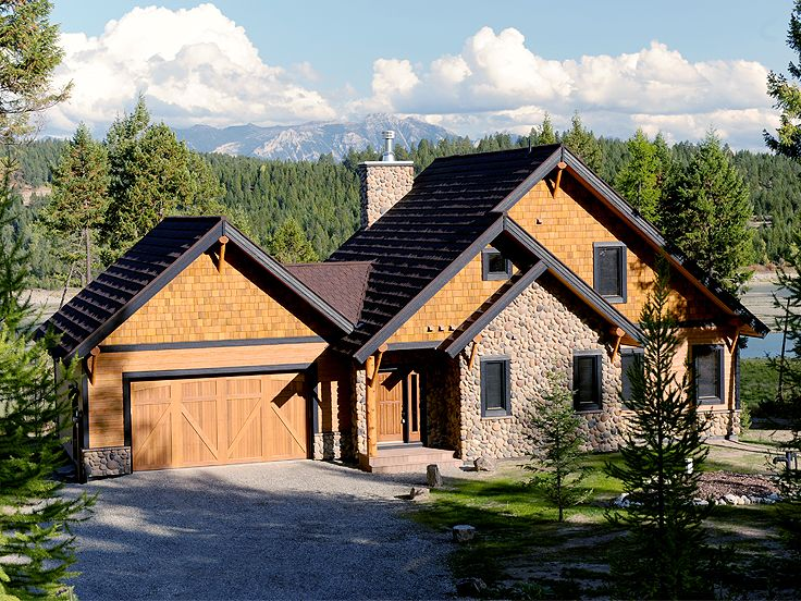 Choose the right new homes plans when planning your dream home the house plan shop - Mountain house plans dreamy holiday homes ...