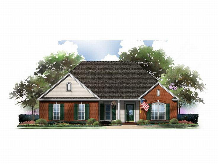Ranch Home Plan, 001H-0036