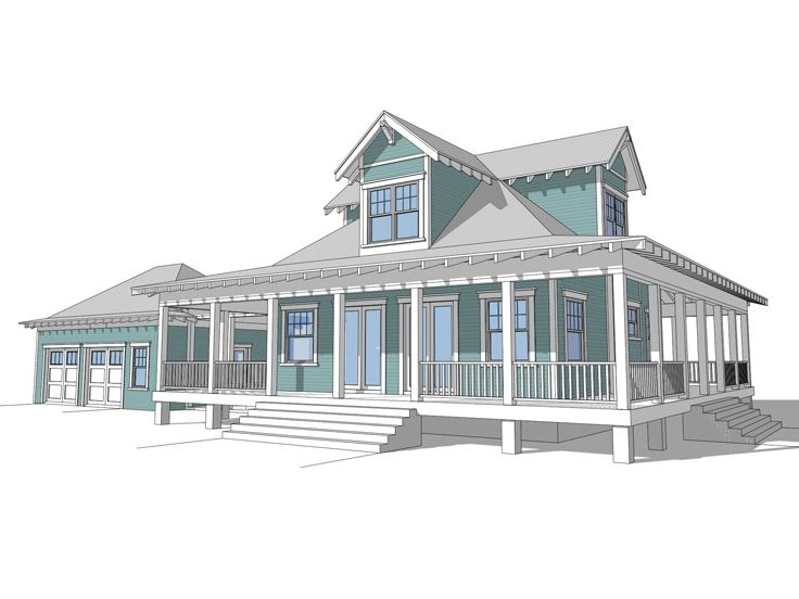 Small Country House, Front, 052H-0077