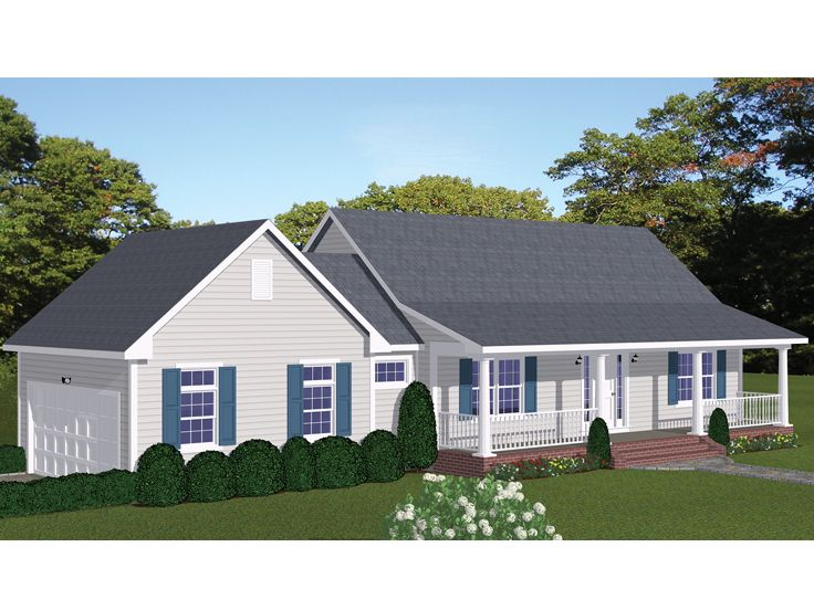 Small Ranch House Plan, 078H-0022