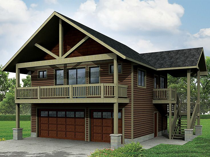 Carriage house plans craftsman style carriage house plan for Carport with apartment above