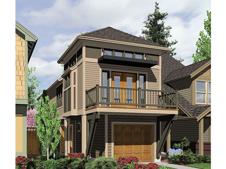 Zero Lot Line Home Plan, 034H-0159