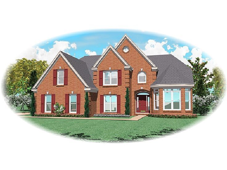 Two-Story Home Plan, 006H-0087