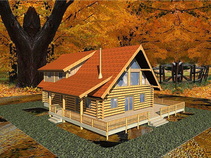 Log House Plan, 012L-0015