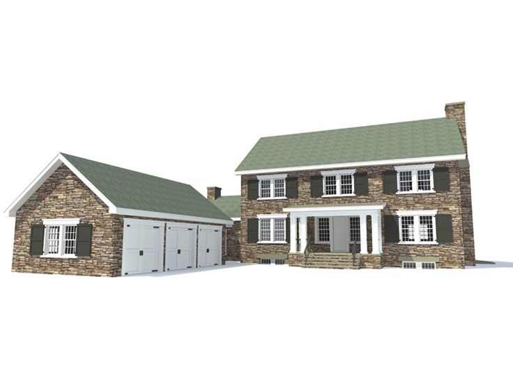 Colonial House Plan, 052H-0015