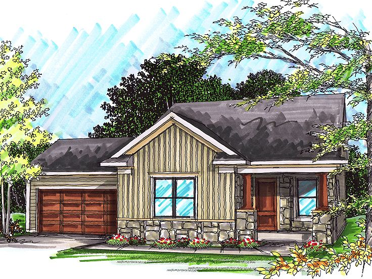 Empty nester house plans affordable and functional house for Empty nester home plans designs