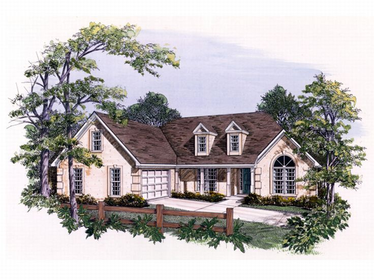 Sunbelt House Plan, 019H-0025