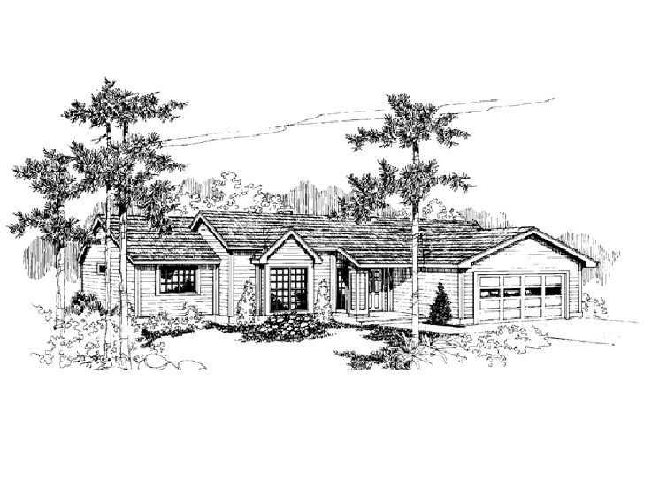 1-Story Home Plan, 013H-0042