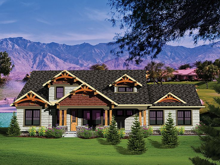 Craftsman House Plan, 020H-0267