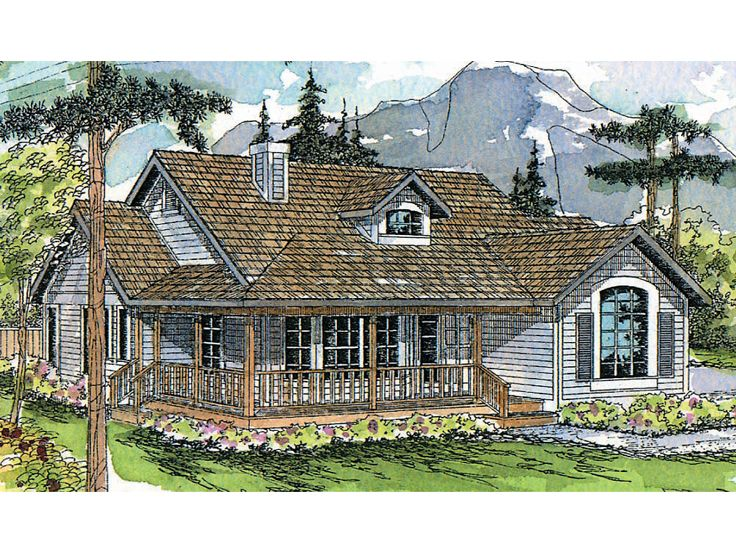 Country House Plan, 051H-0008