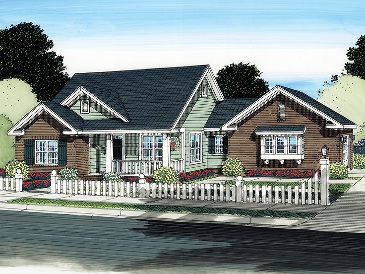 Ranch House Design, 059H-0128