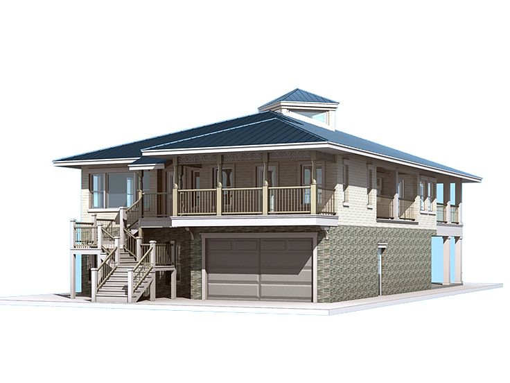 Coastal Home Plan, 052H-0012