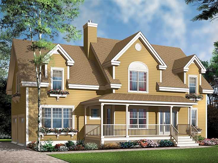 Country Home Plan, 027H-0165