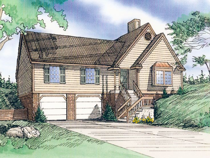 Sloping Lot House Plan, 009H-0018