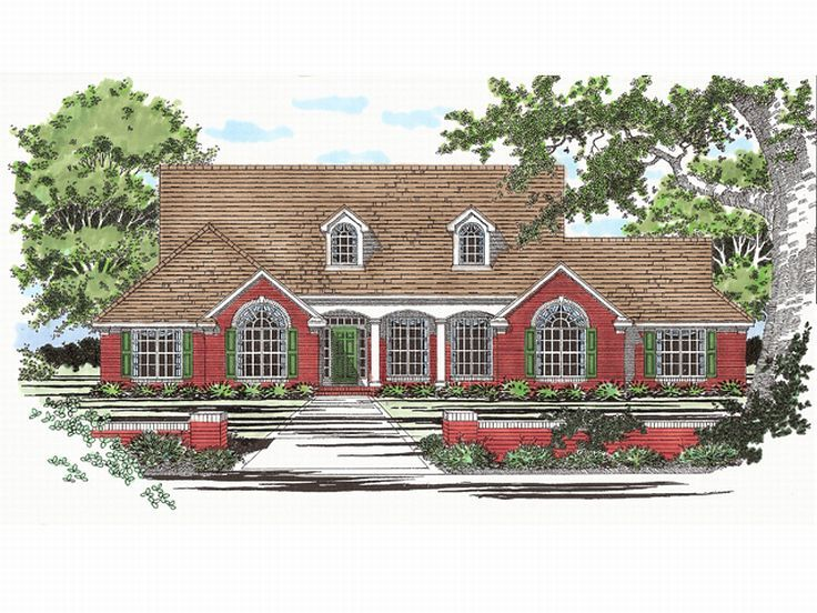 Traditional Home Plan, 036H-0007