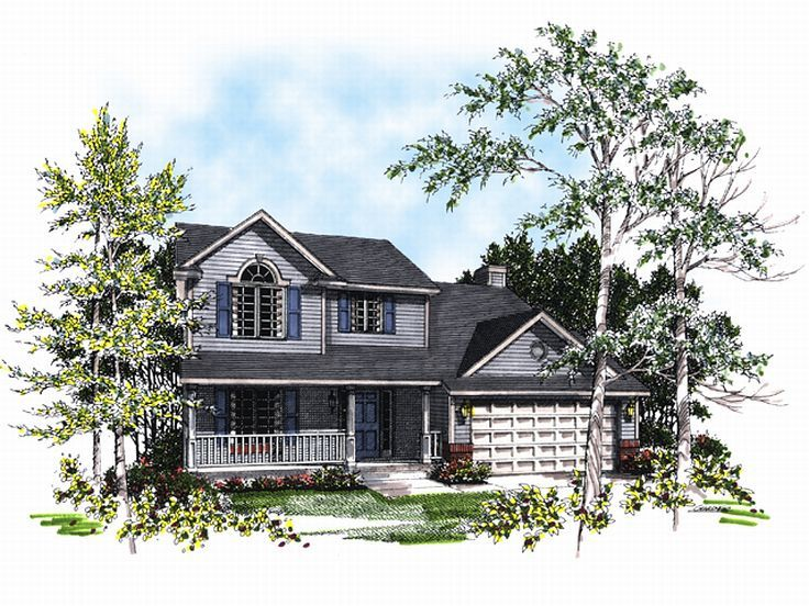 2-Story Home Plan, 020H-0011