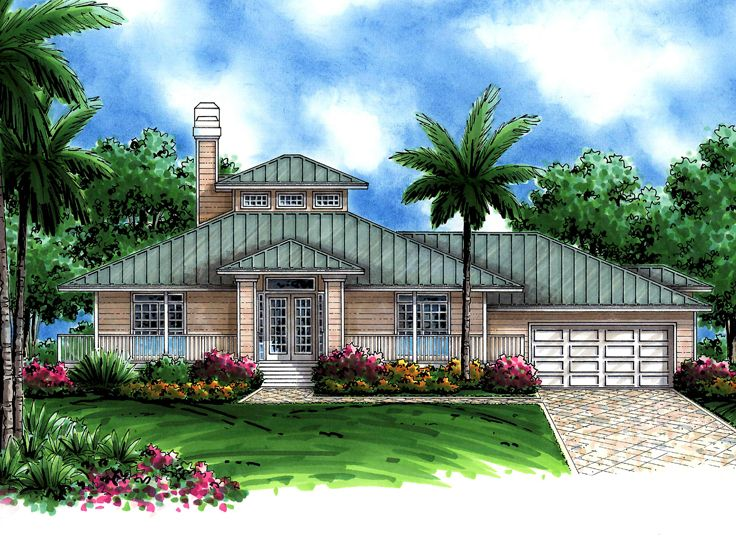 Coastal House Plan, 040H-0040