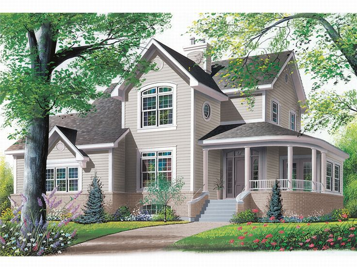 Two-Story Home Plan, 027H-0018