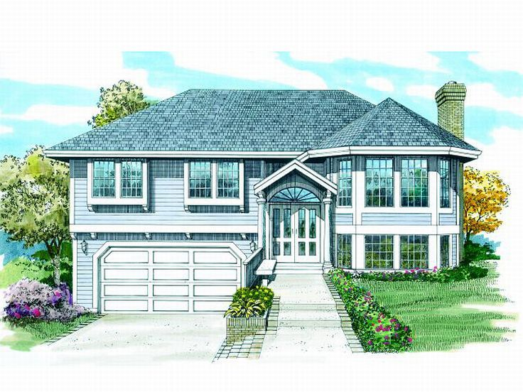 Split-Level Home Plan, 032H-0022