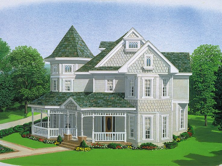 Victorian House Plan, 054H-0130