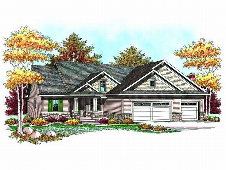 Craftsman House Plan, 020H-0176