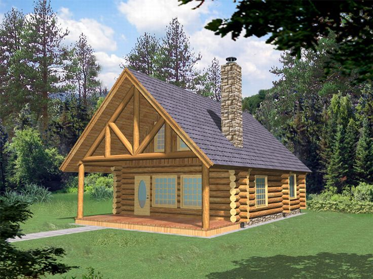 Log Cabin House Plan, 012L-0035