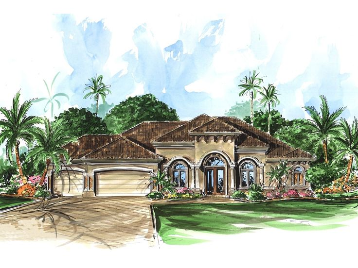 Sunbelt House Plan, 037H-0003
