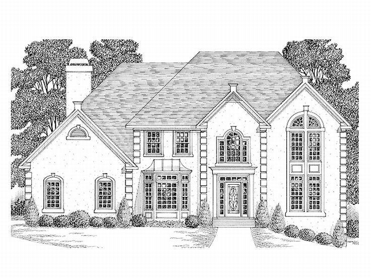 2-Story Home Plan, 007H-0096