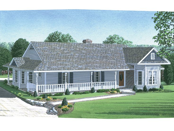 Country Home Plan, 054H-0104