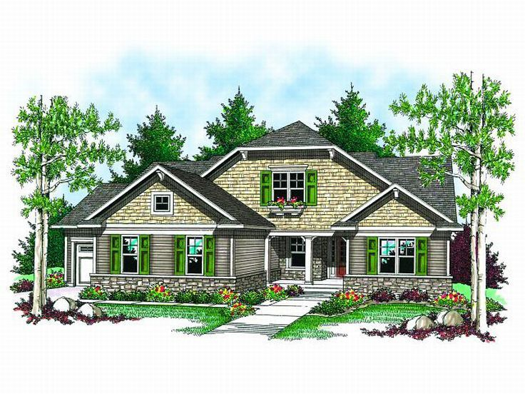 Bungalow House Plan, 020H-0151